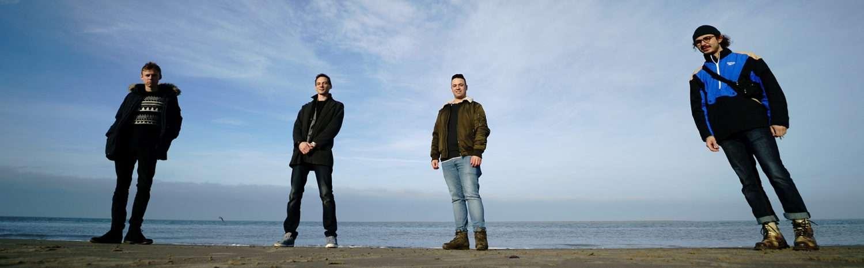 Das Junge Ensemble Ruhr am Meer in Renesse 2018.